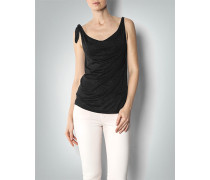 Damen T-Shirt Top mit Metallic-Effekt
