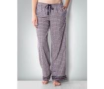 Damen Pyjamahose mit Logo-Miniprint