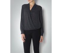 Damen Bluse mit überkreuztem Ausschnitt
