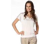 Damen V-Shirt Lyocell-Polyester ecru