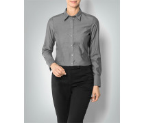 Damen Bluse in Chambray-Optik