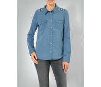 Bluse im Jeans-Look