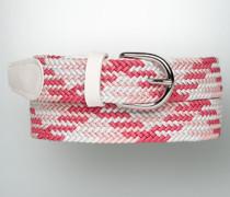 Damen Gürtel ALBERTO GOLF Gürtel im geflochtenen Zick Zack-Muster