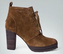 Damen Schuhe Schnürstiefeletten mit integriertem Plateau