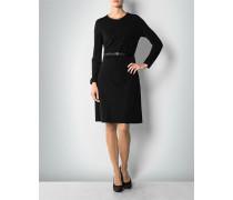 Damen Kleid mit Details in Leder-Optik