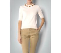 Damen Pullover mit Deko-Ausschnitt