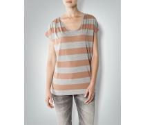 Damen T-Shirt im Blockstreifen-Design