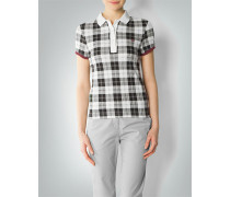 Damen Polo-Shirt im Karo Dessin