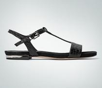 Damen Schuhe Sandale in Kroko-Prägung