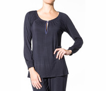 Damen Schlaf-Shirt Modal marine
