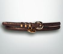Damen Gürtel Gürtel im Metallic Look
