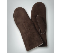 Damen Handschuhe Lammfell mocca