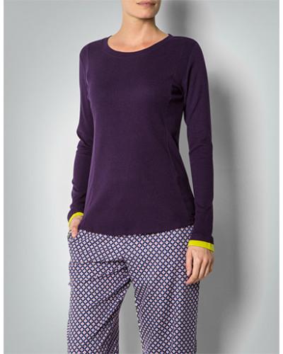 Pyjama-Shirt mit Rippeneinsatz