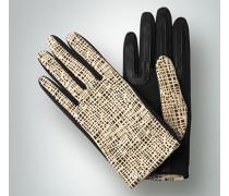 Damen Handschuh mit modernem Lochmuster