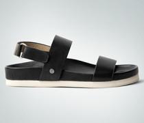 Damen Schuhe Sandale mit zwei breiten Riemen