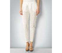 Damen Hose mit floraler Spitze