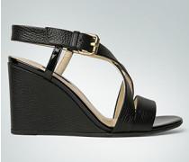 Damen Schuhe Wedges mit Lack-Details