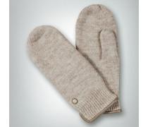 Damen Handschuhe Walkfäustling aus Schurwolle