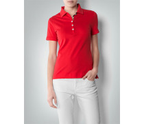 Damen Polo-Shirt mit Karo-Detail