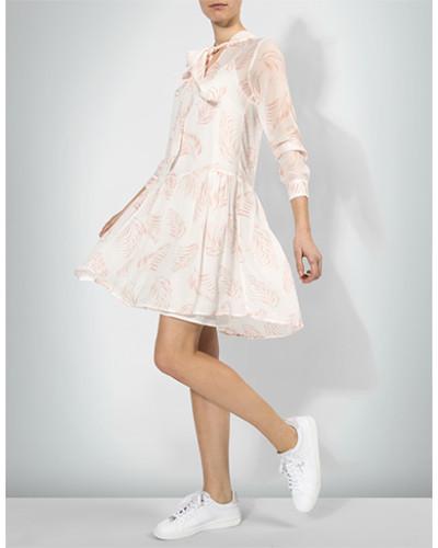 Kleid mit zartem Blätter-Print