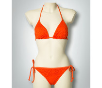 Damen Bademode Bikini in Triangel-Form mit Lochmuster