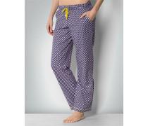 Damen Nachtwäsche Pyjama-Pants im Rauten-Dessin