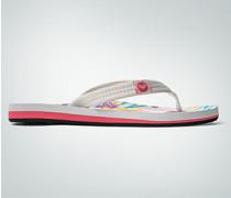 Damen Schuhe Zehensandale mit floralem Muster