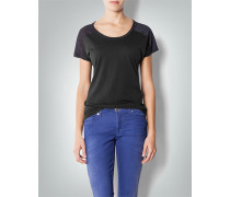Damen Shirt mit Metallic-Effekt