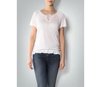Damen T-Shirt mit Flechtborte