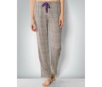 Damen Pyjama-Hose mit Leo-Print