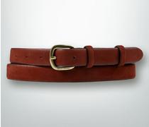 Damen Gürtel Leder rooibos ca. 22 mm