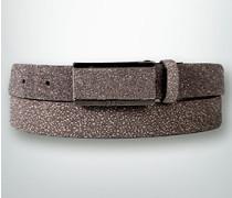 Damen Gürtel Gürtel in Graphit-Optik