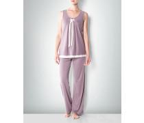 Damen Nachtwäsche Pyjama aus Jersey im femininen Look