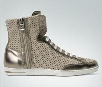 Damen Schuhe Knöchelhoher Sneaker mit Stanzmuster