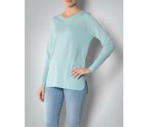 Damen Pullover mit abgerundeten Seitenschlitzen