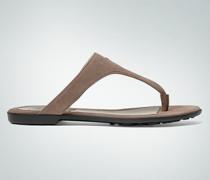 Damen Schuhe Zehensandale aus Veloursleder