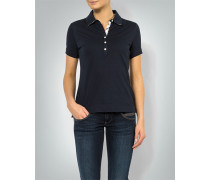 Damen Polo-Shirt mit karierten Kontrast-Details