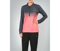 Damen Polo-Shirt im Zweifarben-Print