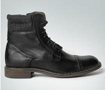 Damen Schuhe Schnürstiefelette mit Kontrast-Schaft
