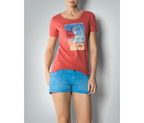 Damen Shirt mit plakativem Surfer-Print