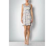 Damen Kleid mit Blumen-Print ,blau