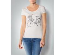Damen T-Shirt mit Fahrrad-Motiv