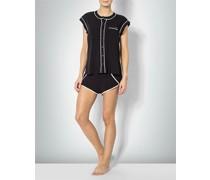 Damen Nachtwäsche Pyjama mit kontrastfarbenen Kanten