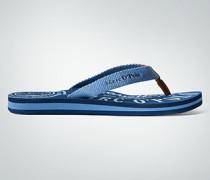 Damen Schuhe Zehensandale mit auffälligen Logo-Prints