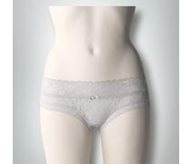 Damen Wäsche Bikini Slip aus floraler Spitze