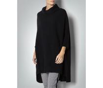 Damen Pullover Poncho aus Grobstrick