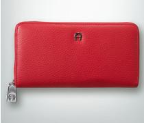 Damen Geldbörse mit markantem Reißverschluss