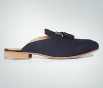 Schuhe Pantoletten mit Metallic-Logo