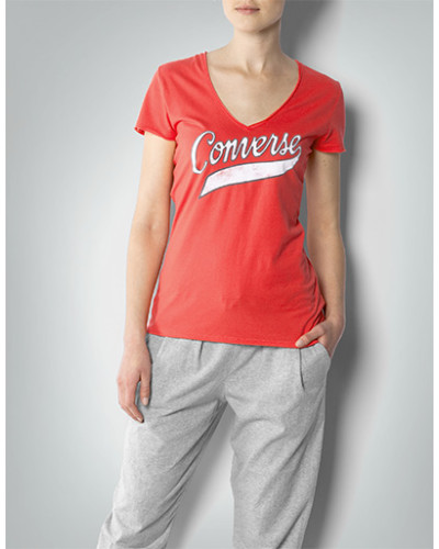 Damen T-Shirt mit Label-Print