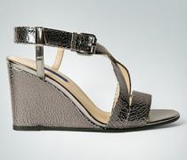 Damen Schuhe Wedge-Sandalette mit Craquelé-Effekt